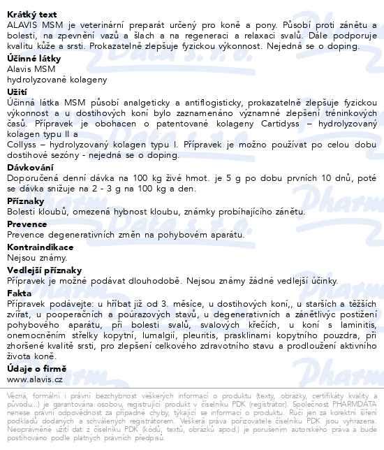 Alavis MSM pro koně 600g - Talekarna 25f0543325