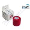 KineMAX Cohesive elast. samofix.  2. 5cmx4. 5m červené