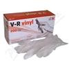 Rukavice vinylové V-R vel. M bezprašné 200ks