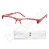 Brýle čtecí +3. 50 červeno-černé s pouzdrem