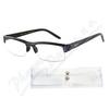 Brýle čtecí +3. 50 černé s pruhy a pouzdrem