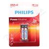 Baterie Power Alkaline AAA PHILIPS LR03P2B-10 2ks