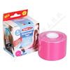 Kinezio. tejp. páska WUNDmed růžová 5cmx5m 1ks