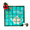 English Tea XMAS 25ks advent kalendář modrý BIO