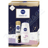 NIVEA set ženy SG diamo 250ml+sprej B&W silk. 150ml