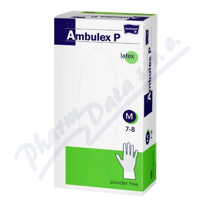 Ambulex P rukavice latexové nepudrované M 100ks