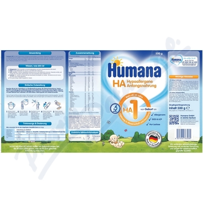 Humana HA1 mléčná koj. výživa od narození 500g