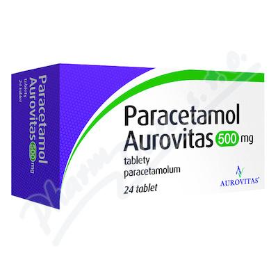 Paracetamol Aurovitas 500mg tbl.nob.24x500mg I