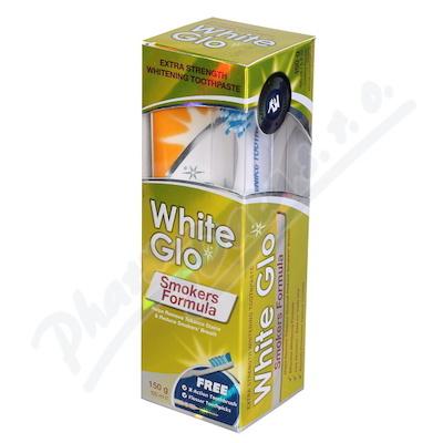 WHITE GLO Bělící pasta Smokers 150g + kart.na zuby