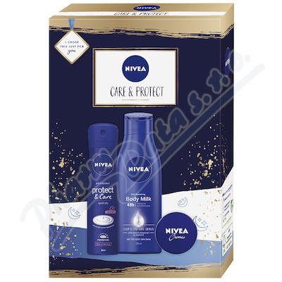 NIVEA set ženy Sprej AP P&C +Body Milk +NIVEA krém