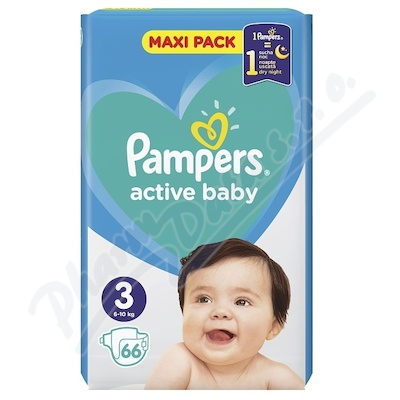 PAMPERS Active Baby VPP 3 Midi 66ks