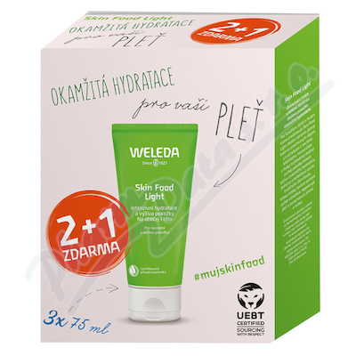 WELEDA SET Skin Food Light Multipack 2+1