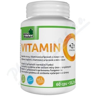 Naturprodukt Vitamin C 500mg + Zinek 10mg csp.60