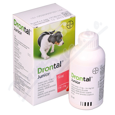 Drontal Junior psy a.u.v.sus.50ml+apl.