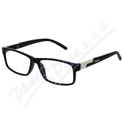 Brýle čtecí +3.50 černé s kovovým doplňkem FLEX