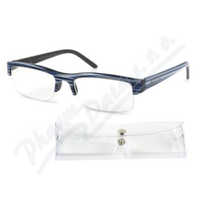 Brýle čtecí +3.50 modro-černé s pouzdrem FLEX