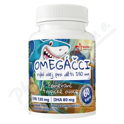 Omegáčci ryb.olej pro děti EPA130mg/DHA80mg cps.60
