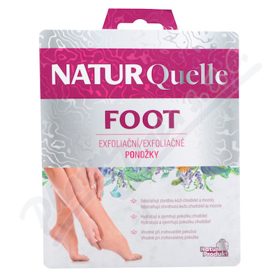 NATURQuelle FOOT exfoliační ponožky 2x20ml