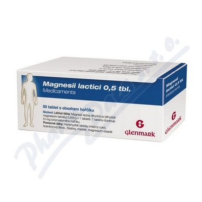 Magnesii Lactici 0.5 tbl.MVM por.tbl.nob.50x0.5g